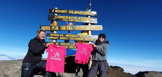 Une enseignante du lycée français Anna de Noailles au sommet du Kilimanjaro