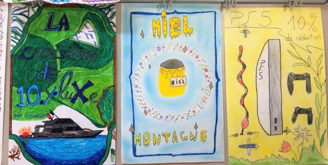 Affiches « Art nouveau » en CM2C
