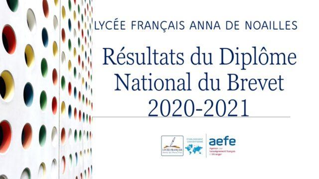 Résultats du Diplôme National du Brevet 2020-2021