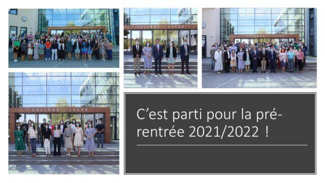 Pré-rentrée 2021/2022
