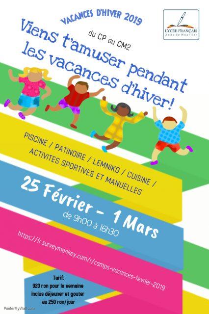 Camps Loisirs & Vacances – du 25 février au 1er mars